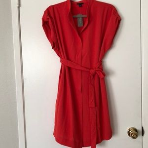 Petite Popover Belted Shirt Dress by Ann Taylor